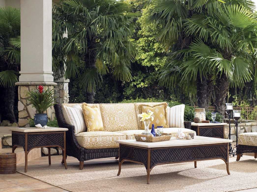 Tommy bahama outdoor island estate lanai wicker lounge set - Tommy bahama bedroom furniture clearance ...