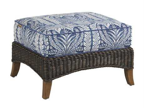 Tommy Bahama Outdoor Island Estate Lanai Wicker Ottoman PatioLiving