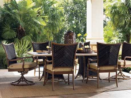 Tommy Bahama Outdoor Island Estate Lanai Wicker Dining Set
