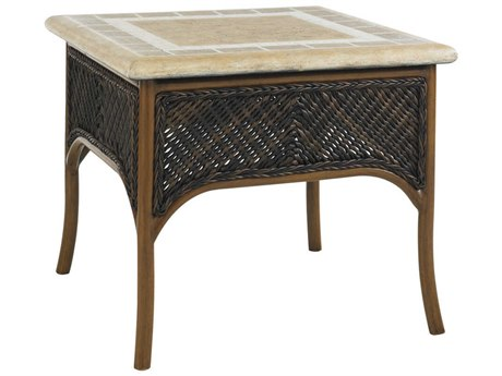 Tommy Bahama Outdoor Island Estate Lanai Wicker 26'' Square Accent Table PatioLiving