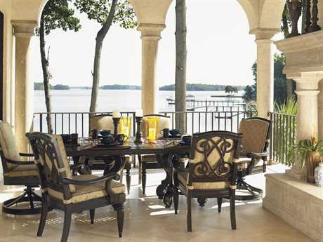 Tommy Bahama Outdoor Kingstown Sedona Cast Aluminum Dining Set