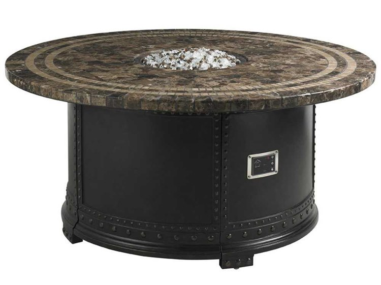Tommy Bahama Outdoor Kingstown Sedona Cast Aluminum 54'' Round Gas Fire Pit
