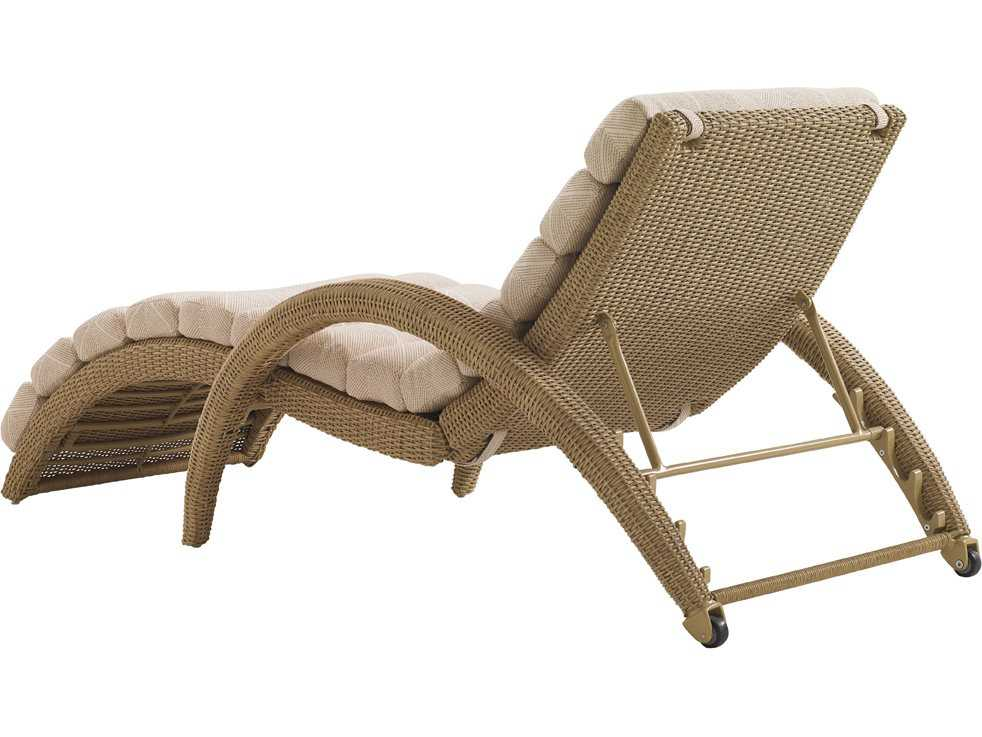 Tommy bahama outdoor aviano wicker chaise lounge tr322075 for Bamboo chaise lounge