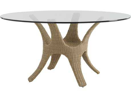 Tommy Bahama Outdoor Aviano Wicker 60'' Round Dining Table PatioLiving