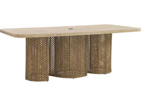 Tommy Bahama Outdoor Aviano Wicker 84'' x 44'' Rectangular Dining Table