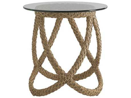 Tommy Bahama Outdoor Aviano Wicker 24'' Round End Table PatioLiving