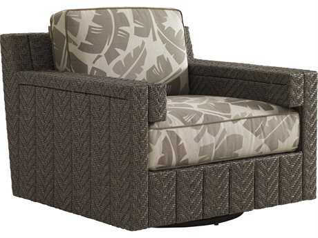 Tommy Bahama Outdoor Blue Olive Wicker Swivel Glider