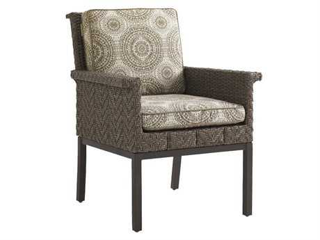 Tommy Bahama Outdoor Blue Olive Wicker Dining Chair