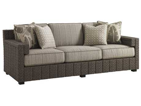 Tommy Bahama Outdoor Blue Olive Wicker Sofa PatioLiving