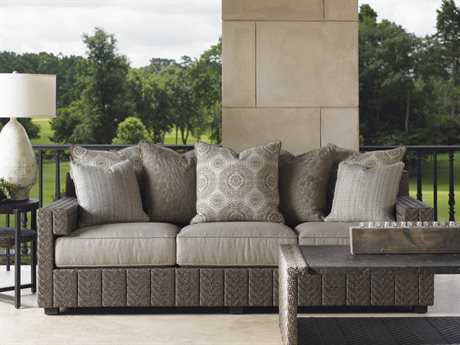 Tommy Bahama Outdoor Blue Olive Wicker Lounge Set