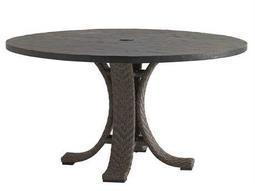 Tommy Bahama Outdoor Blue Olive Wicker Dining Table Base (Requires Two for Rectangular)