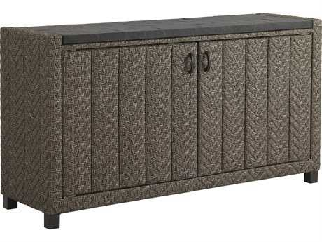 Tommy Bahama Outdoor Blue Olive Wicker 60'' x 16'' Rectangular Buffet