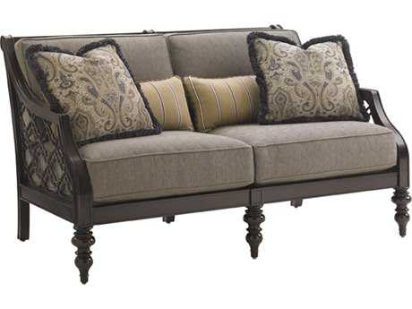 Tommy Bahama Outdoor Black Sands Cast Aluminum Cushion Loveseat TR323522