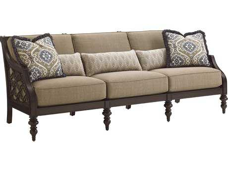 Tommy Bahama Outdoor Black Sands Cast Aluminum Cushion Sofa TR323533