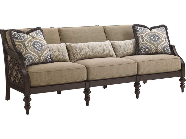 Tommy Bahama Outdoor Black Sands Cast Aluminum Cushion Sofa