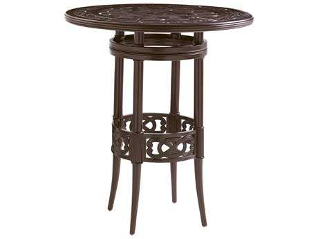Tommy Bahama Outdoor Black Sands Cast Aluminum 38'' Wide Round Bistro Bar Table