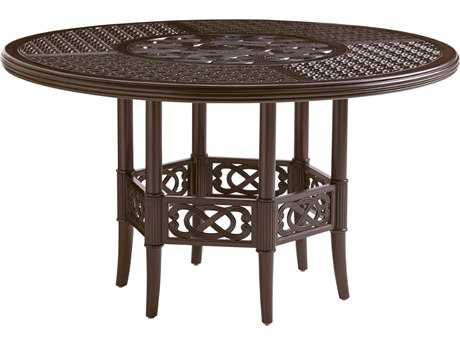 Tommy Bahama Outdoor Black Sands Cast Aluminum 54'' Round Dining Table
