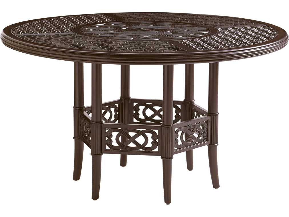 tommy bahama outdoor black sands cast aluminum 54 39 39 round dining tabl