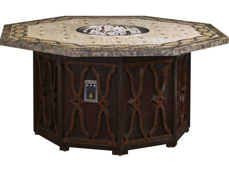 Tommy Bahama Outdoor Black Sands Cast Aluminum Gas Fire Pit (Dual Source)