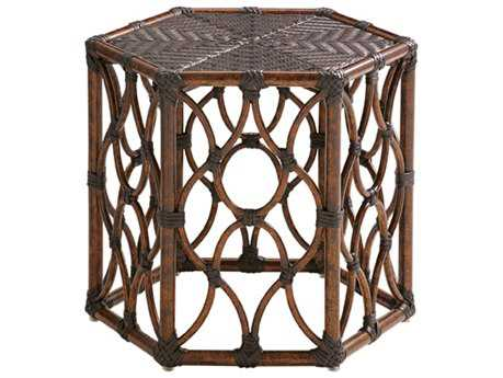 Tommy Bahama Outdoor Black Sands Wicker 19.5 x 22.25 Bunching Cocktail Table