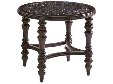 Tommy Bahama Outdoor Black Sands Cast Aluminum 28'' Round End Table
