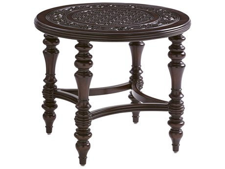 Tommy Bahama Outdoor Black Sands Cast Aluminum 28'' Round End Table PatioLiving