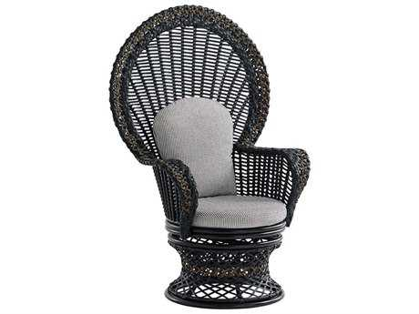 Tommy Bahama Outdoor Marimba Wicker Swivel Fan Chair
