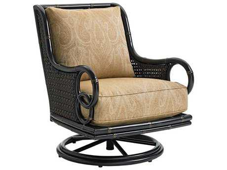 Tommy Bahama Outdoor Marimba Wicker Swivel Rocker Lounge Chair