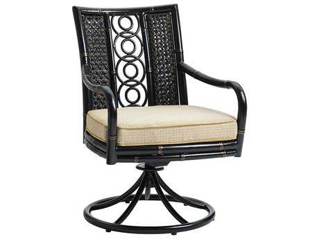 Tommy Bahama Outdoor Marimba Wicker Swivel Rocker Dining Chair
