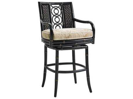 Tommy Bahama Outdoor Marimba Wicker Swivel Bar Stool