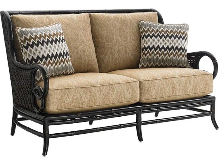 Tommy Bahama Outdoor Marimba Wicker Loveseat PatioLiving