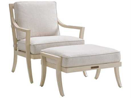 Tommy Bahama Outdoor Misty Garden Cast Aluminum Lounge Chair & Ottoman Set PatioLiving