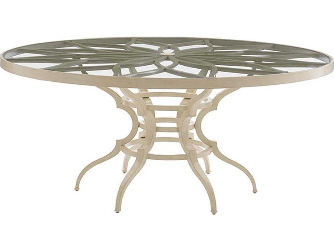 bahama outdoor misty garden cast aluminum 70 39 39 round dining table