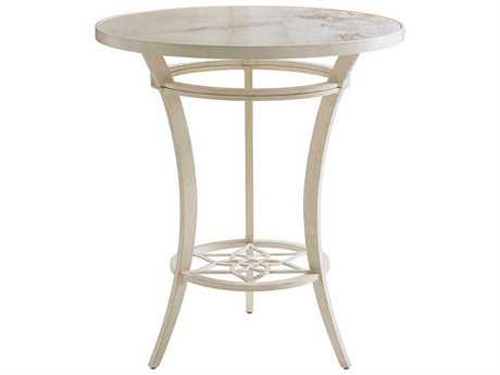 Tommy Bahama Outdoor Misty Garden Cast Aluminum 38'' Round High/Low Bistro Table