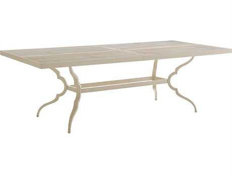 Tommy Bahama Outdoor Misty Garden Cast Aluminum 92'' x 44'' Rectangular Dining Table