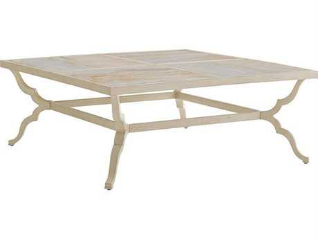Tommy Bahama Outdoor Misty Garden Cast Aluminum 46'' Square Cocktail Table
