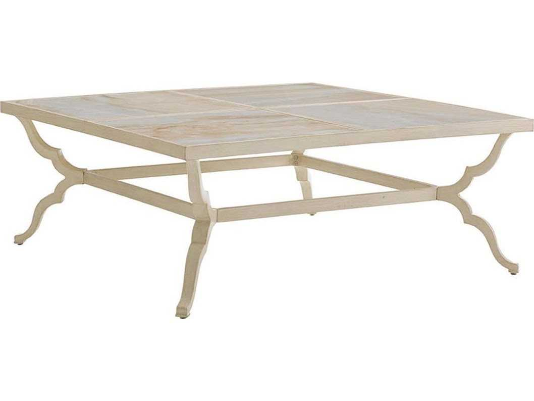 Tommy bahama outdoor misty garden cast aluminum 46 for 46 inch square coffee table