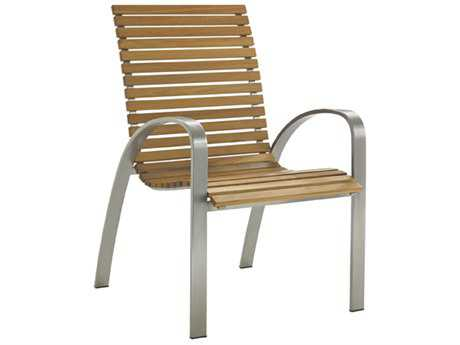 Tommy Bahama Outdoor Tres Chic Steel Teak Dining Chair PatioLiving