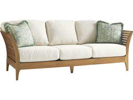 Tommy Bahama Outdoor Tres Chic Teak Cushion Sofa