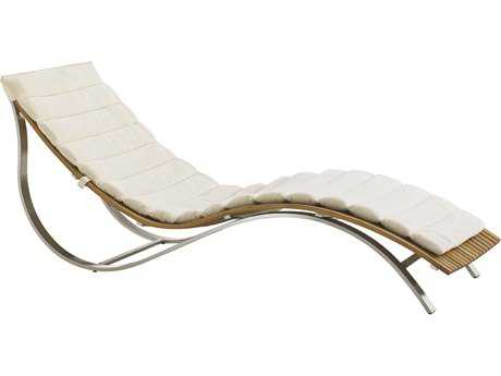 Tommy Bahama Outdoor Tres Chic Steel Teak Chaise Lounge