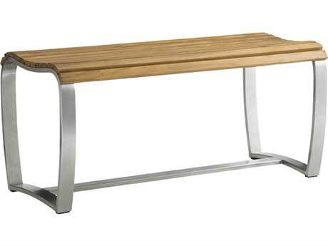 Tommy Bahama Outdoor Tres Chic Steel Teak Dining Bench