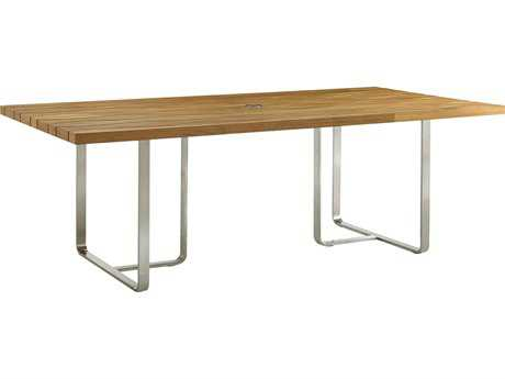 Tommy Bahama Outdoor Tres Chic Steel Teak 88 x 44'' Rectangular Dining Table