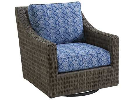 Tommy Bahama Outdoor Cypress Point Ocean Terrace Wicker Swivel Glider Lounge Chair