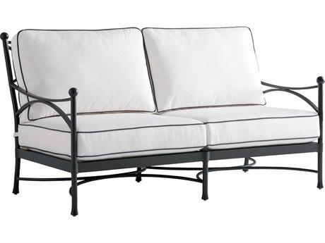 Tommy Bahama Outdoor Pavlova Aluminum Loveseat with Cushion Set