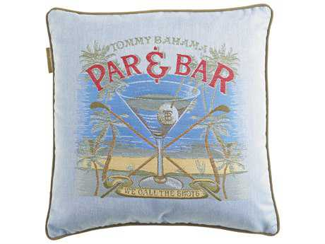 Tommy Bahama Outdoor Paradise 18'' x 18'' Par & Bar (Ocean) Pillow