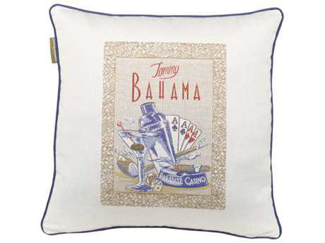 Tommy Bahama Outdoor Paradise 18'' x 18'' Paradise 18'' x 18''Casino Pillow
