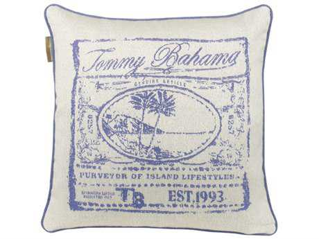 Tommy Bahama Outdoor Paradise 20'' x 20'' Cobalt Pillow