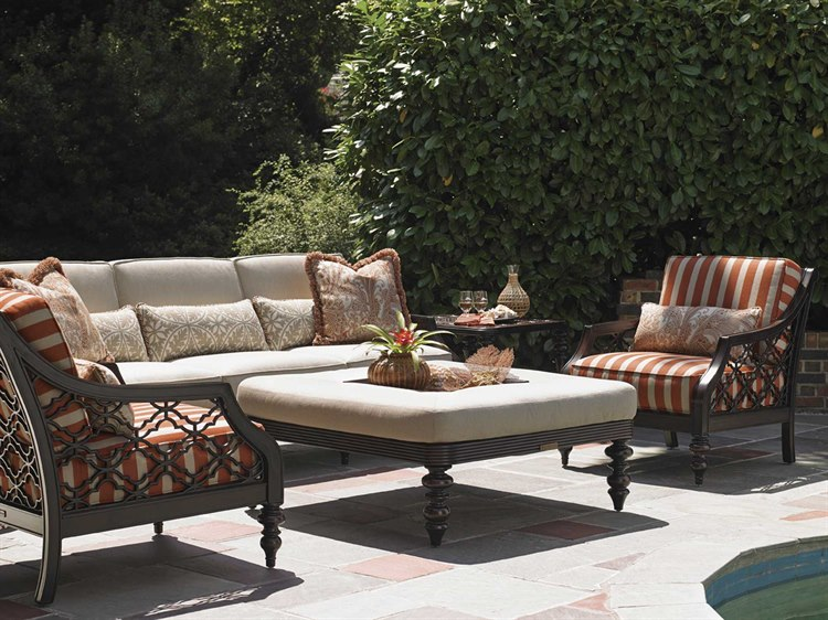 Tommy Bahama Black Sands cushioned patio furniture
