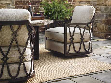 Tommy Bahama Outdoor Black Sands Cast Aluminum Firepit Lounge Set