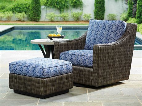 Cypress Point Ocean Terrace Aluminum Wicker Cushion Lounge Set